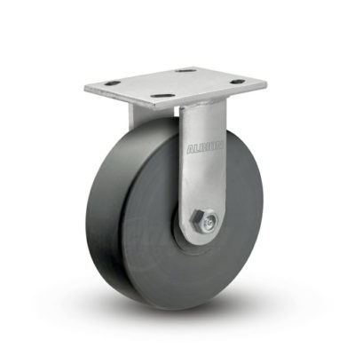 8 Inch Albion 120 Contender Kingpinless Stainless Rigid Caster - (120NX08201R-01)