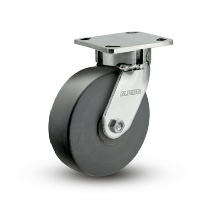 5 Inch Albion 120 Contender Kingpinless Stainless Swivel Caster - (120NX05201S)