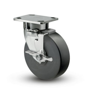 5 Inch Albion 120 Contender Kingpinless Stainless Swivel Caster - (120NX05228SFBD)