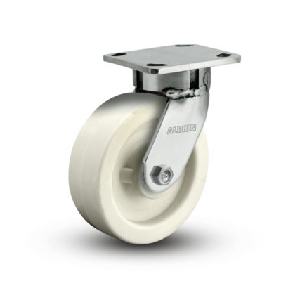 5 Inch Albion 120 Contender Kingpinless Stainless Swivel Caster - (120RW05201S)