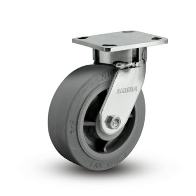 6 Inch Albion 120 Contender Kingpinless Stainless Swivel Caster - (120XS06201S)