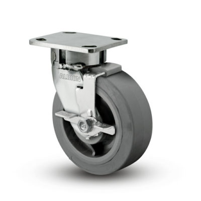 5 Inch Albion 120 Contender Kingpinless Stainless Swivel Caster - (120XS05201SFBD)