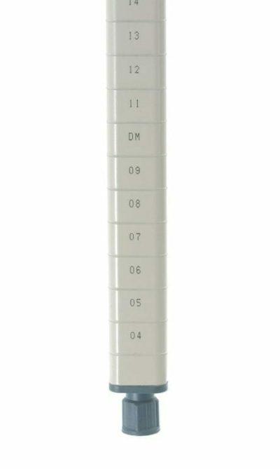 "MetroMax Q Epoxy Coated Steel Stationary Shelving Post, 62.1875"" H (0-41105-65248-0)"