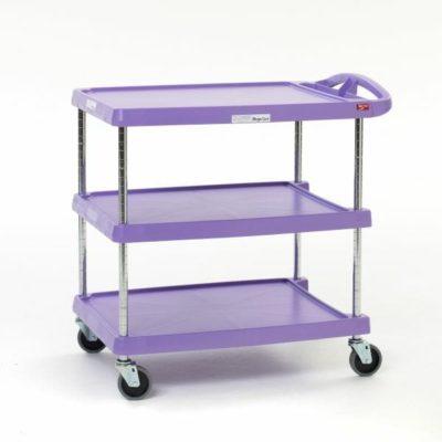 "myCart Series 3-shelf Utility Cart, Purple, 23.4375"" x 34.375"" (0-41105-86507-1)"