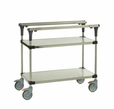 """PrepMate MultiStation, 36"""", Solid Stainless Steel top and bottom shelves with Stainless Steel posts (0-41105-88069-2)"""