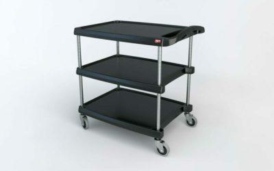 "myCart Series 3-shelf Utility Cart, Black, 23.4375"" x 34.375"" (0-41105-86497-5)"