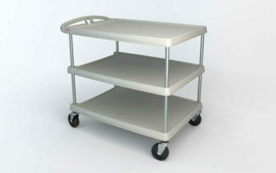 "myCart Series 3-shelf Utility Cart, Gray, 27.6875"" x 40.25"" (0-41105-86505-7)"