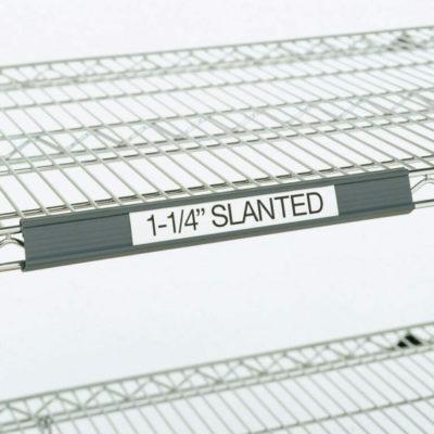 """Super Erecta Slanted Label Holder, Gray, 3"""" L x 1.25"""" H (0-41105-41342-5)"""