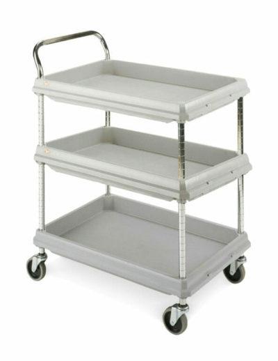 Metro Deep Ledge 3-shelf Utility Cart, Gray (0-41105-43303-4)