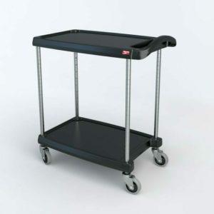 "myCart Series 2-shelf Utility Cart, Black, 18.3125"" x 31.5"" (0-41105-86488-3)"