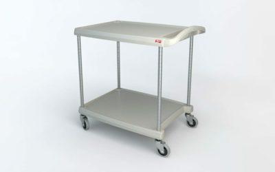 "myCart Series 2-shelf Utility Cart, Gray, 23.4375"" x 34.375"" (0-41105-86496-8)"