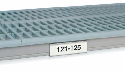 """MetroMax i Label Holder, White, 4.5"""" L x 1.25"""" H (0-41105-41311-1)"""