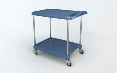 "myCart Series 2-shelf Utility Cart with Microban, Blue, 23.4375"" x 34.375"" (0-41105-86495-1)"