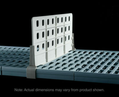 "MetroMax Q Standard Duty Shelf Dividers for open grid shelves, 24"" L x 8"" H (0-41105-65294-7)"