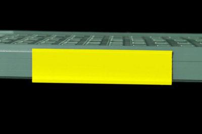 "MetroMax Q Color Shelf Marker, Yellow, 6"" L x 1.5"" H (0-41105-52207-3)"