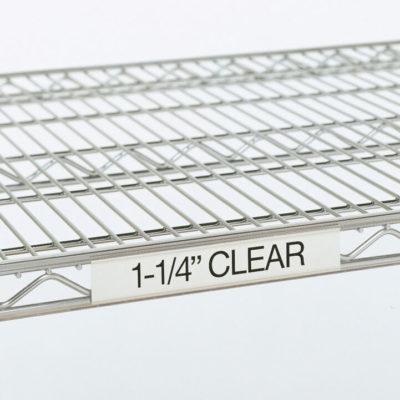 """Super Erecta Label Holder, Clear, 3"""" L x 1.25"""" H (0-41105-41320-3)"""
