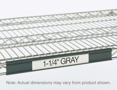 "Super Erecta Label Holder, Gray, 43"" L x 1.25"" H (0-41105-41334-0)"