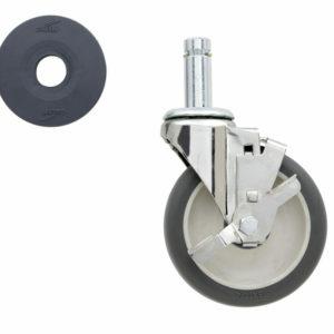 "5"" Super Erecta Polyurethane Swivel/Brake Stem Caster (0-41105-38394-0)"