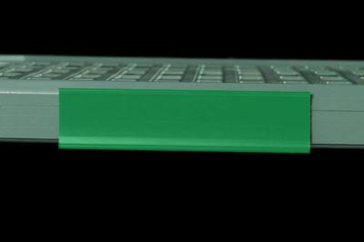 "MetroMax Q Color Shelf Marker, Green, 6"" L x 1.5"" H (0-41105-52192-2)"