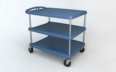 "myCart Series 3-shelf Utility Cart with Microban, Blue, 27.6875"" x 40.25"" (0-41105-86504-0)"