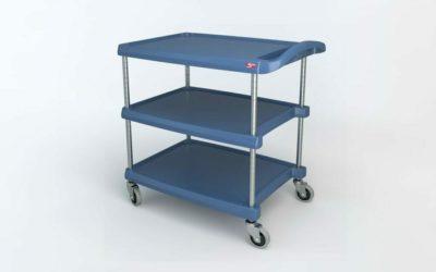 "myCart Series 3-shelf Utility Cart with Microban, Blue, 23.4375"" x 34.375"" (0-41105-86498-2)"
