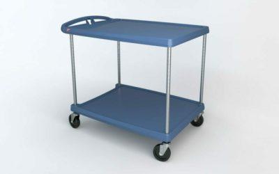 "myCart Series 2-shelf Utility Cart with Microban, Blue, 27.6875"" x 40.25"" (0-41105-86501-9)"