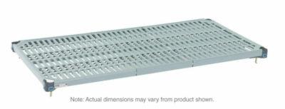 "MetroMax Q Polymer/Wire Hybrid Shelf with Grid Mat, 21"" x 36"" (0-41105-65182-7)"