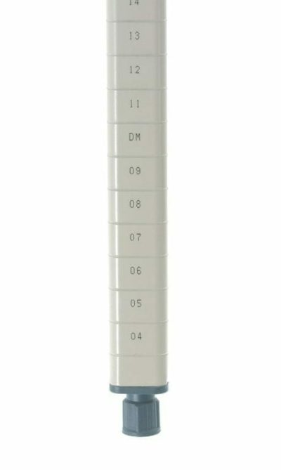 "MetroMax Q Epoxy Coated Steel Stationary Shelving Post, 74.1875"" H (0-41105-65268-8)"