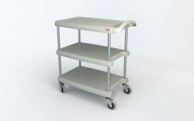 "myCart Series 3-shelf Utility Cart, Gray, 18.3125"" x 31.5"" (0-41105-86493-7)"