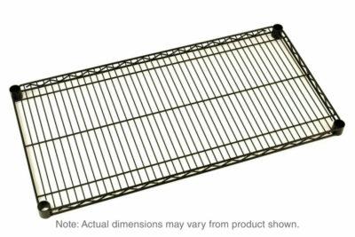 """Super Erecta Wire Shelf, Black, 18"""" x 48"""" (0-41105-32252-9)"""