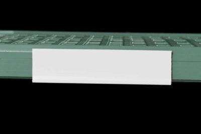 "MetroMax Q Color Shelf Marker, White, 6"" L x 1.5"" H (0-41105-52204-2)"