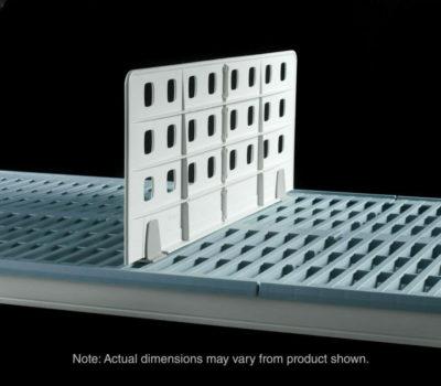 """Metro Light Duty Shelf Dividers for open grid shelves, 18"""" L x 8"""" H (0-41105-65466-8)"""