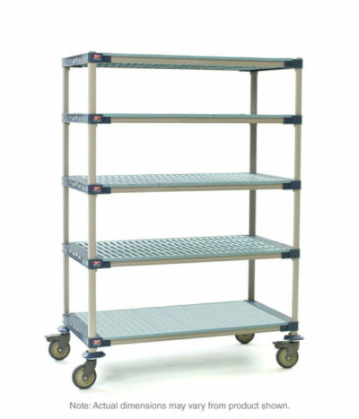 "MetroMax 4 5-Tier Stem Caster Cart, Solid Bottom Shelf, 18"" x 36"" x 79.3125"" (0-41105-86328-2)"