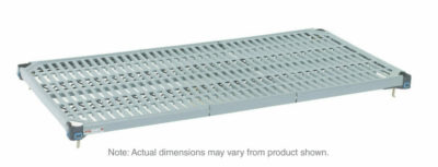 "MetroMax Q Polymer/Wire Hybrid Shelf with Grid Mat, 21"" x 48"" (0-41105-65184-1)"