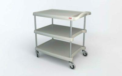 "myCart Series 3-shelf Utility Cart, Gray, 23.4375"" x 34.375"" (0-41105-86499-9)"