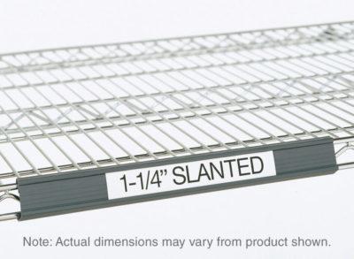 """Super Erecta Slanted Label Holder, Gray, 19"""" L x 1.25"""" H (0-41105-41344-9)"""