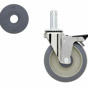 "5"" Super Erecta High Modulus Donut Swivel/Brake Stem Caster (0-41105-38363-6)"