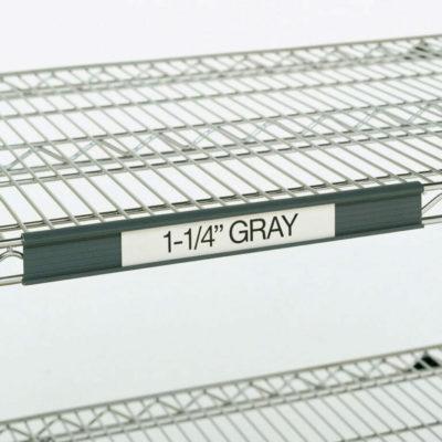 "Super Erecta Label Holder, Gray, 3"" L x 1.25"" H (0-41105-41328-9)"