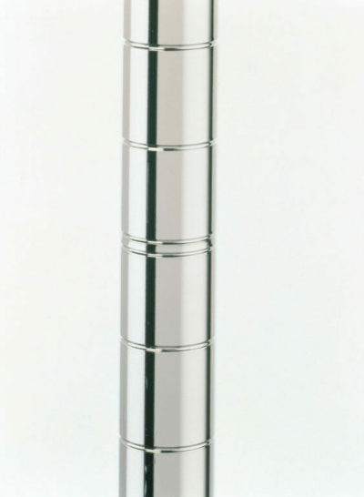 "Super Erecta SiteSelect Mobile Shelving Post, Polished Stainless Steel, 75.5"" H (0-41105-40003-6)"