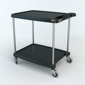 "myCart Series 2-shelf Utility Cart, Black, 23.4375"" x 34.375"" (0-41105-86494-4)"