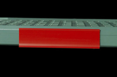 "MetroMax Q Color Shelf Marker, Red, 6"" L x 1.5"" H (0-41105-52198-4)"