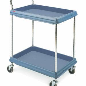 Metro Deep Ledge 2-shelf Utility Cart, Blue (0-41105-43216-7)