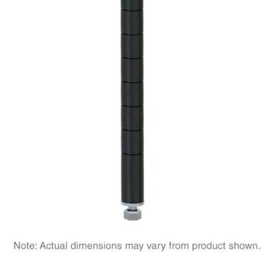 "Super Erecta SiteSelect Stationary Shelving Post, Black, 74.5"" H (0-41105-39889-0)"