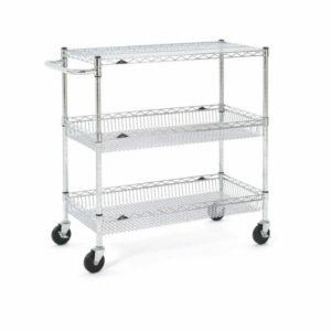 Metro 3-Tier Basket Cart, Chrome (0-41105-30094-7)