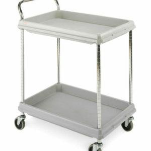 Metro Deep Ledge 2-shelf Utility Cart, Gray (0-41105-43286-0)