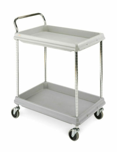 Metro Deep Ledge 2-shelf Utility Cart, Gray (0-41105-43215-0)