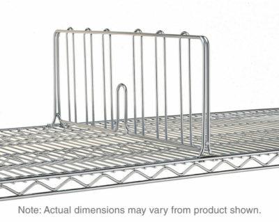 """Super Erecta Shelf Divider, Polished Stainless Steel, 8"""" x 24"""" (0-41105-54681-9)"""