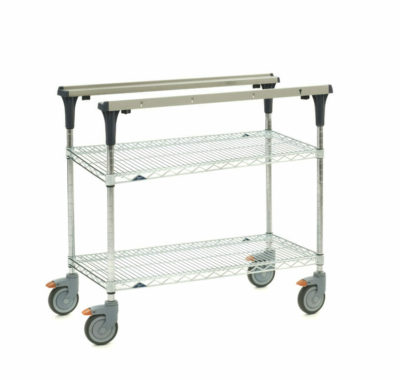 """PrepMate MultiStation, 36"""", Brite Zinc Wire top and bottom shelves with Chrome posts (0-41105-88071-5)"""