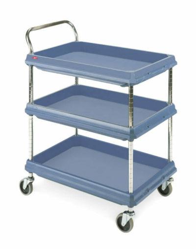 Metro Deep Ledge 3-shelf Utility Cart, Blue (0-41105-43240-2)