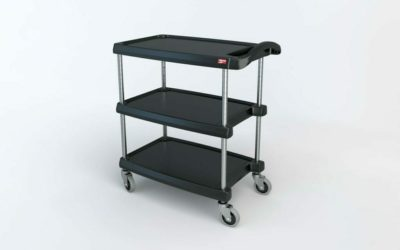 "myCart Series 3-shelf Utility Cart, Black, 18.3125"" x 31.5"" (0-41105-86491-3)"
